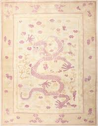 Chinese Design by Funky Antique Purple Chinese Dragon Rug 50385 Nazmiyal