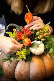 Thanksgiving Pumpkin Decorations Best 25 Pumpkin Floral Arrangements Ideas On Pinterest Pumpkin