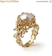 black friday jewelry sale black friday sale coral gold ring gold pearl ring gold pearl