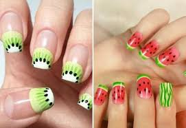 manicure with fruits u2013 photo of beautiful solutions for the summer