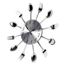 montre cuisine grand 3d horloge murale design moderne en acier inoxydable cuisine