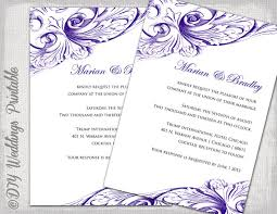wedding template invitation wedding invitation template eggplant diy wedding invitations