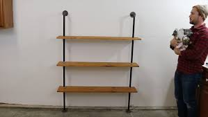 wood shelves with metal pipes kashiori com wooden sofa chair