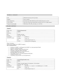 Obiee Sample Resumes by Obiee Sample Resumes Poonam Chand Chaganraj Resume Obiee