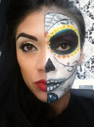 sugar skull halloween makeup tutorial day of the dead youtube