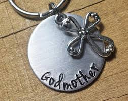 godmother keychain personalized godparent gift baptism gift personalized