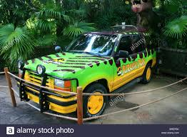 jeep cherokee green 2017 jurassic park jeep cherokee stock photo royalty free image