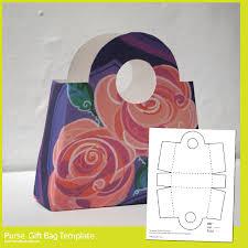 handbag gift bag template make breaks