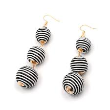 disco earrings striped disco earrings the box