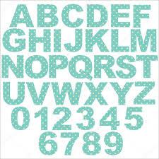 vector pastel polka dot alphabet jo blue background original