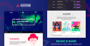 band templates from themeforest