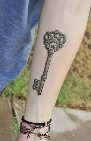 fascinating skeleton key tattoo designs for men tattoomagz