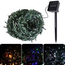 solar led christmas lights outdoor 10m led christmas lights leaf string light christmas decoration