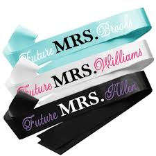 personalized sashes personalized future mrs sash soon to be mrs sash to be sash