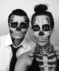 Skeleton Halloween Dress by Couples Halloween Costume Skeleton Makeup Maquillajes