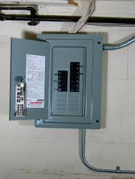 visual guide to an electrical service panel or load center