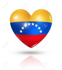 Venezuela Flag Colors Love Venezuela Symbol 3d Heart Flag Icon Isolated On White Stock