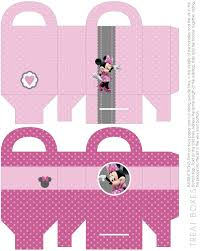 free minnie mouse party printables cupcake wrappers favor boxes