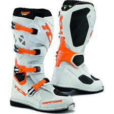 oxtar motocross boots tcx boots comp evo bior white orange 47 off road ebay