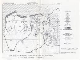Map Of San Diego Ca Geology And Mineral Resources Of San Diego County California