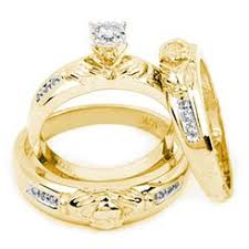 gold wedding ring sets his and hers wedding ring sets