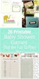 20 printable baby shower games that are fun to play tip junkie