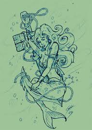 aquarius mermaid tattoo design