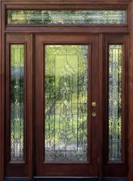 Exterior Entry Doors With Glass Mahogany Exterior Doors With Sidelights And Transoms 68 Front