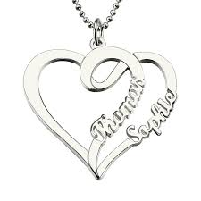 name necklaces cheap s name necklace personalized heart pendant necklace