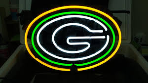 green bay packers lights 2018 new green bay packer football neon sign real glass tube beer