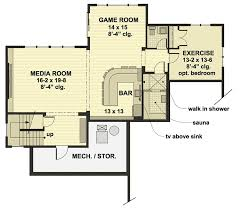 modern floor plan modern farmhouse with optional finished lower level 14654rk