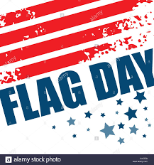 American Flag In Text American Flag Day Background Design Vector Illustration Stock