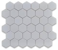10 75 x11 875 thassos white hexagon mosaic tile polished chip