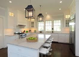 Brushed Nickel Backsplash by White Coastal Kitchen Ideas Stunning U Shaped Kitchen With White