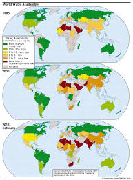 Maps Around The World by Water Climate Change World Water Shortages Water Scarcity Global