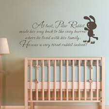 Removable Nursery Wall Decals Children Wall Quote Rabbit Baby Nursery Bedroom Room