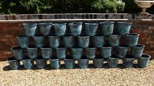 handmade copper garden plant pots