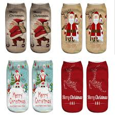 new years socks new year gift women 3d print christmas socks novelty design