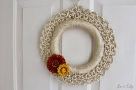 crochet love crochet wreath
