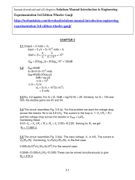 solutions manual introduction to engineering experimentation 3rd