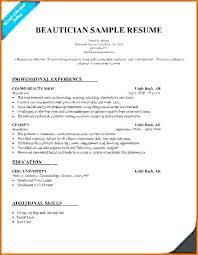 cosmetologist resume exles sle resume for cosmetologist resume for cosmetology student