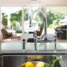 Perrin Rowe Faucet Ionian Deck Mounted Taps With Lever Handles And Rinse Perrin And