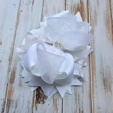girl hair bows hair bows wedding hair accessory flower girl hair bow