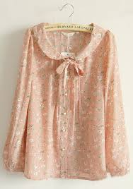floral blouse pink floral buttons belt puff sleeve silk blouse blouses tops