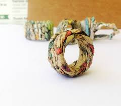 Gift For Wife Sustainable Jewelry Gift For Wife C Upcycled Newspaper Ring Gift