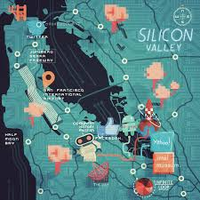 Map Of San Francisco Area by Steve Mccarthy Map Of Silicon Valley California Dreaming I