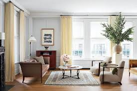 captivating living room curtain ideas light grey patterned wall
