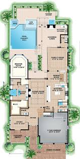 Beach Style House by Beach Style House Plan 4 Beds 5 5 Baths 5796 Sq Ft Plan 27 474