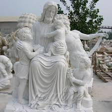 statue with outdoor large jesus marble statue with child statues sculpture for