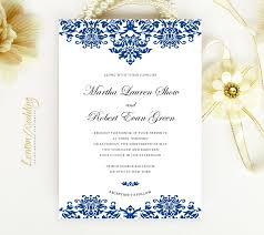 blue wedding invitations wedding invitations lemonwedding